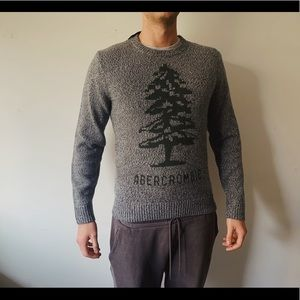 NEW Abercrombie & Fitch warm sweater in grey M